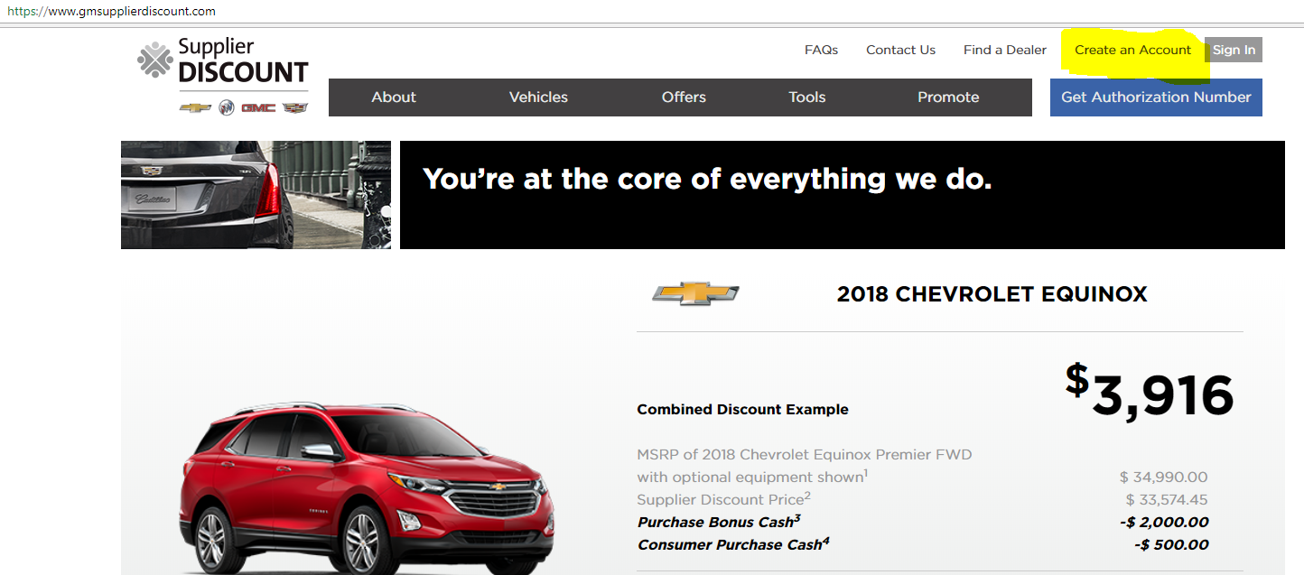 How do I get the General Motors (GM) exclusive company